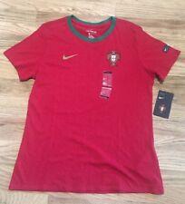 Nike Portugal World Cup 2018 Soccer Football Crest Ringer Shirt (M) AH9818 667