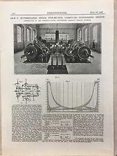 Superheated Steam Compound Condensing Engine: 1908 Engineering Magazine Print