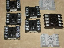 Octal Relay Sockets, qty of 8, used