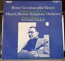 Benny Goodman plays Mozart, Clarinet Concerto & Quintet - RCA pink label LP