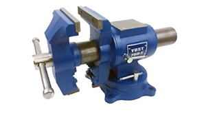 """Yost 5"""" Heavy-Duty Bench Vise, Double Swivel Rotating Vise: Head Rotates 360° In"""