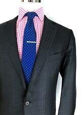 Current Ermengildo Zegna Men's Black Striped Silk Blend FIT-MILA Sport Coat 46R