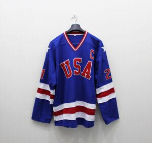 USA Hockey Jersey 21 Mike Eruzione 17 Jack O'Callahan 30 Craig Miracle On Ice