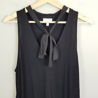 [ WITCHERY ] Womens Black Top w/Tie detail | Size L or AU 14 / US 10