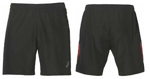 "ASICS Men's Running Shorts Sports 7"" Performance Shorts - Black/Red - New"