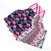 GI- BH_ KQ_ Women's Flamingo Flower Print Kitchen Cafe Cooking Bib Apron Overclo