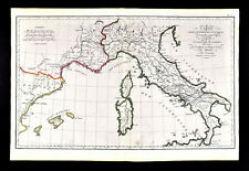1818 D'Anville Map Ancient Roman Europe Hannibal Route Spain France Italy Rome