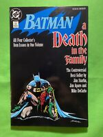 BATMAN: A Death in the Family DC COMICS Jim Starlin, Jim Aparo TPB 1st Print NM
