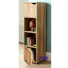 4 Cube oak Turin Wood Shelve Shelf shelving Books Toys living Room Storage Unit