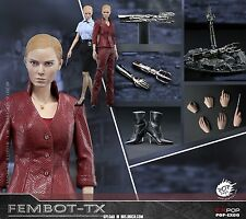 "12"" 1/6th POP Toys Collectible Figure Female Robot Terminator TX Machine"