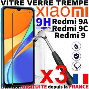 VERRE TREMPE XIAOMI REDMI 9A / VITRE XIAOMI REDMI 9C PROTECTION ECRAN ANTICHOC