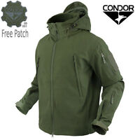 Condor 602 Tactical Summit SoftShell Jacket Cold Weather YKK Zip w/ Patch Olive