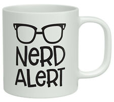 Nerd Alert White 10oz Mug Glasses Geek Funny