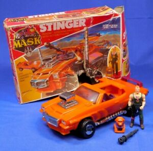 M.A.S.K. STINGER 1986 COMPLETE BEAUTIFUL TOY, ROUGH BOX KENNER