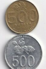 2 DIFFERENT 500 RUPIAH COINS from INDONESIA - BOTH DATING 2003 (2 TYPES)