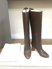 CHLOE Genuine LEATHER High Knee PULL ON BOOTS in Brown Ebony colour Size 36 £980