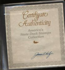 USA 1991 Collection Complete State Duck Stamps on Album Official c138