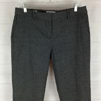 Liz Claiborne womens size 10P stretch black white dot flat front tapered pants