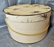 "Vintage Original Retro Bullock's 12""x7"" Hat (Storage) Box"