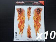 """x10 (2"""" x 6.50"""") Lethal/Threat Flaming Skull Body Decal Emblem Logo Sticker"""