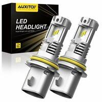 2x AUXITO 9007 HB5 LED Headlight Bulbs High Low Beam 6500K Bright 12000LM Kit