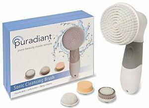 PURADIANT Facial Cleansing Brush Face Scrubber Spin Brush Body Brush Sonic Water
