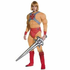 Adult Men He-Man Costume Masters Universe Prince Adam Fancy Dress Costume Outfit