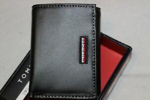 Tommy Hilfiger Men's Black RFID Protection Stitch Edge Trifold Wallet $48