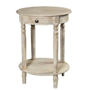 Telephone,Oval Console Table,Table With Charging IN Country Style,Antique White