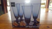 Mikasa Glassware Glasses Blue Domain Iced Beverage Set of 4 VE020/425 24 oz NIB