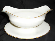 Lenox LAURNET GRAVY BOAT. WITH ATTACHED PLATE