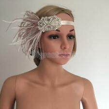 Retro 1920s Feather Headband Wedding Headdress Great Gatsby Flapper Costume