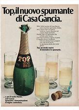 Pubblicità 1972 GANCIA SPUMANTE TOP 21 SPARKLING WINE advert publicitè werbung