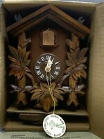 Vintage 1988 Hones Hand Carved Black Forest German Cuckoo Clock New Old Stock