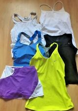 Lot of 6 NIKE Dri -Fit Workout Clothes Tank Tops  & Skirt sz S White Blue Black