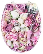 EISL fibrorinforzate sedile del water con chiusura morbida e sgancio rapido-floreale fiori.