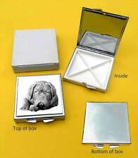 Dogue de Bordeaux Dog Polished Metal Square Pill Box Gift