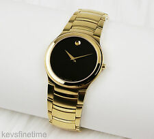New Authentic Movado Women 36mm Gold Plated Kardelo Watch 0605995 MSRP $995