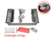 "36"" zero Radius 16 gauge Stainless Steel Kitchen Single Bowl Sink"