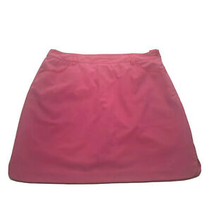 EP Pro Women's Pink Stretch Coolmax Golf Skort Skirt Lightweight Size 16