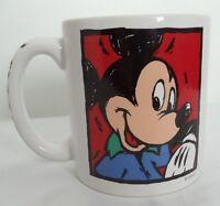 Disney Disneyana Mickey Mouse Coffee Mug Ceramic White Cup