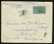 GABON 1935 AIR COVER SOLO 3F via SENEGAL...T in ERROR