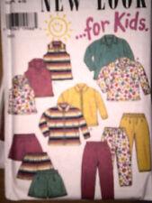 UNCUT Vintage New Look SEWING Pattern Children's Top Jacket Pants Shorts 6623 FF