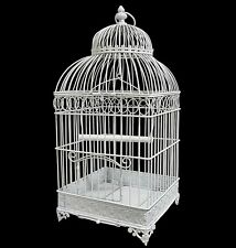Cage a Oiseau oiseaux en Fer Forge ( plante fleur bougie ) 55cm carrèe blanche
