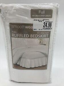 Smoothweave 14 Inch Ruffled Full Bed Skirt in White NIP