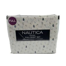 Nautica Home Full 4 Piece Sheet Set Its On Sail Blue Gray White