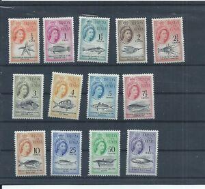 Tristan da Cunha stamps. 1961 Marine Life Fish set MH SG 42 - 54 CV £80  (N128)
