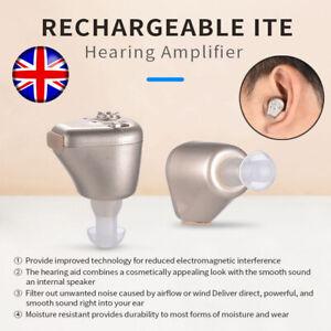 Rechargeable Mini In-Ear Ear Hearing Aid Digital Enhancer Sound Voice Amplifieru