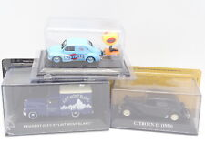 Stampa Ixo 1/43 - Lotto : Citroen Traction + Renault 4CV Patch + Peugeot 203 C8