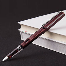 2017 Wing Sung 6359 Coffee Metal Fountain Pen Push Extra Fine EF Nib 0.38mm Gift